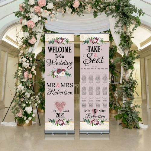 Wedding Roller Banner N4 - Welcome to our Wedding / Table Seating Plan